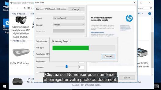 scanner avec windows 10
