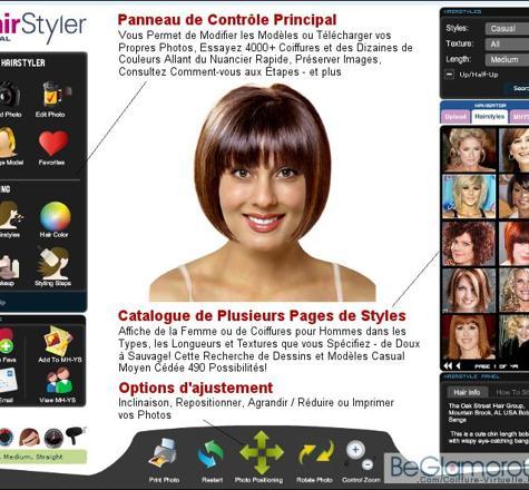 simulation cheveux courts