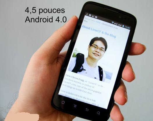 smartphone 4 5 pouces