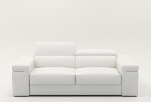 sofa blanc cuir