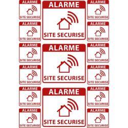 sticker alarme maison