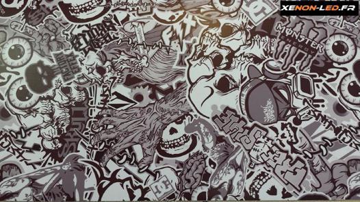 sticker bomb noir et blanc