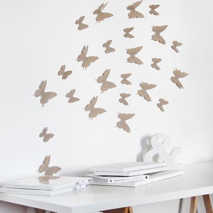 sticker papillon 3d