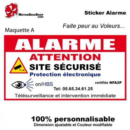 stickers alarme maison