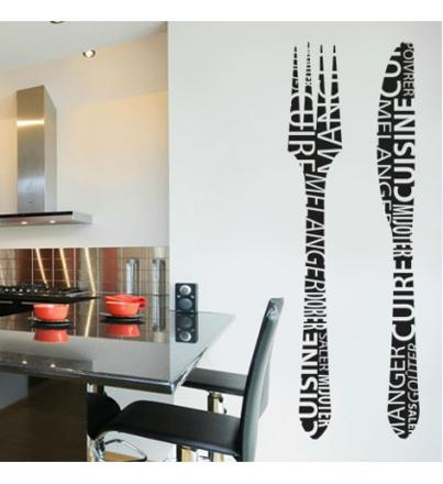 stickers cuisine fourchette couteau