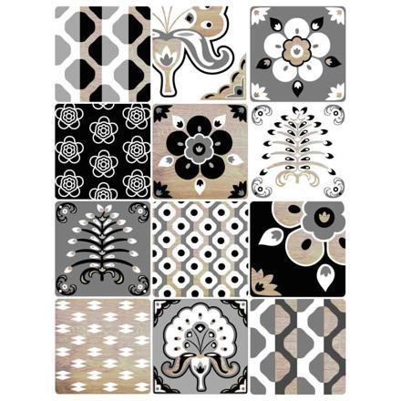 stickers muraux carreaux de ciment