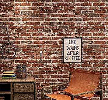 stickers muraux effet brique