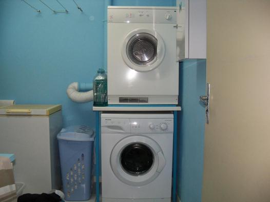 support seche linge sur machine a laver