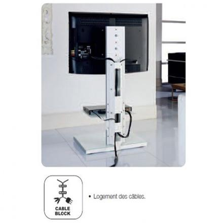 support tv sur pied orientable et inclinable