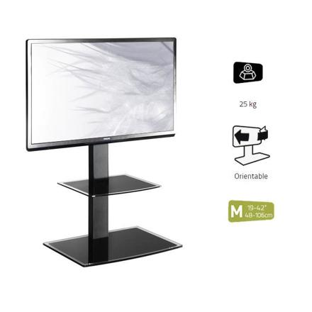 support tv sur pied orientable