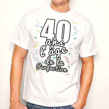 t shirt anniversaire 40 ans