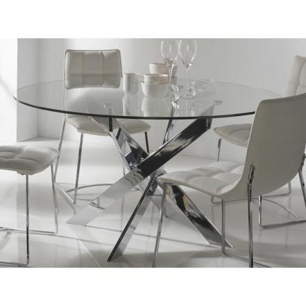 table a manger ronde en verre