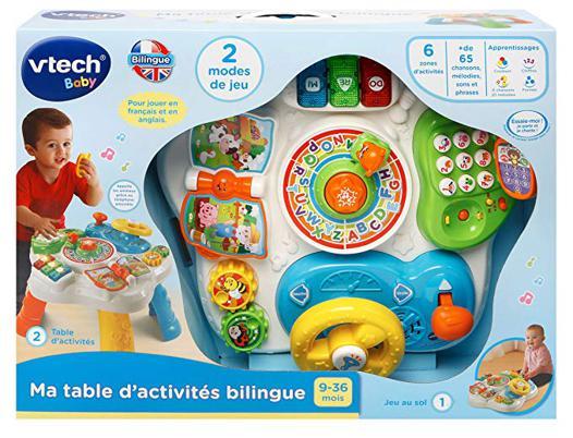 table d activité bilingue