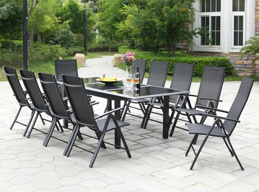 table de jardin aluminium 12 personnes