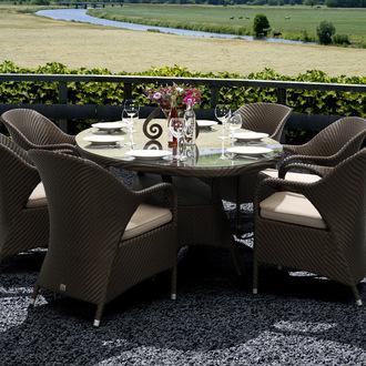 table jardin ovale resine