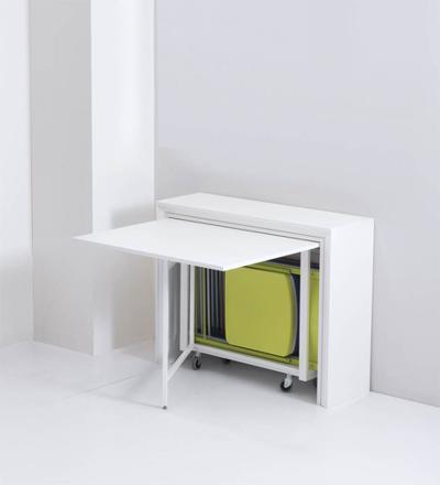 table pliante avec chaise intégrée