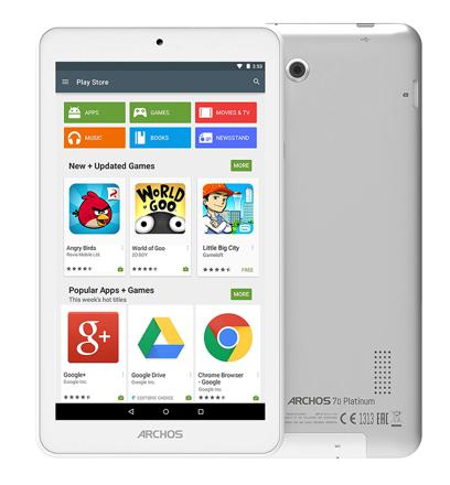 tablette archos platinum 70