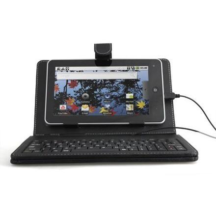 tablette pc 7 pouces avec housse et clavier intégré