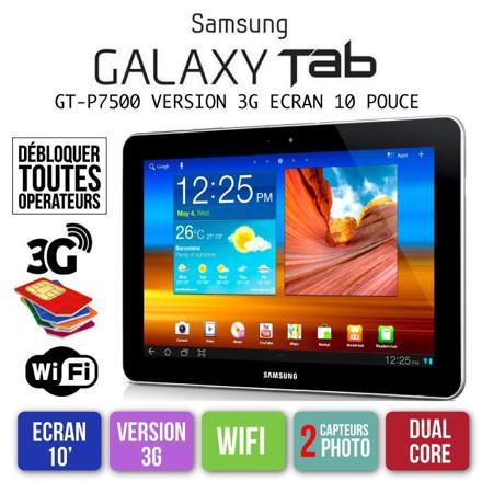 tablette samsung 10 pouces 3g