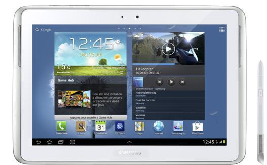 tablette samsung galaxy tab 10.1 avec stylet