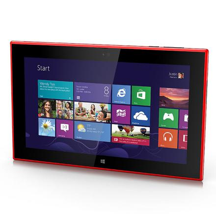 tablette tactile rouge