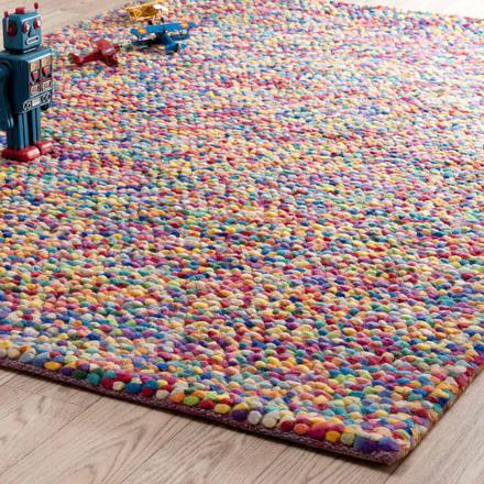 tapis laine multicolore