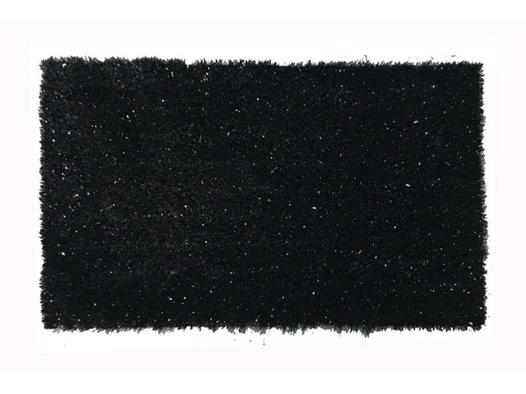 tapis noir brillant