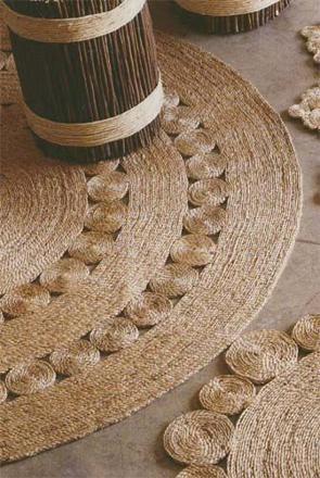 tapis rond en corde