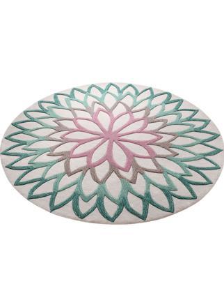 tapis rond lotus