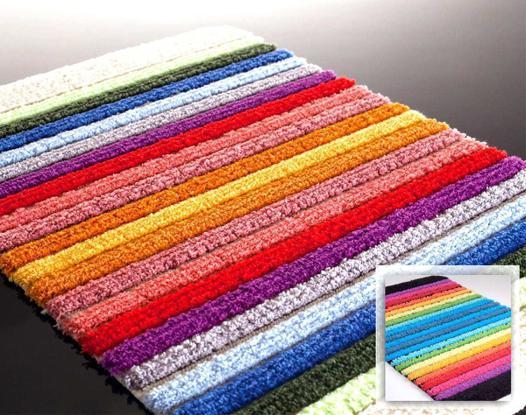 tapis salle de bain multicolore