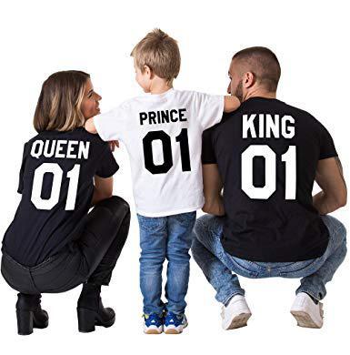 tee shirt king queen prince