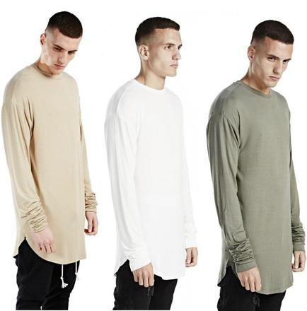 tee shirt long homme swag