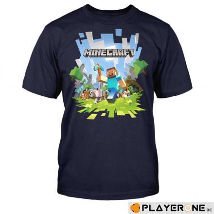 tee shirt minecraft 14 ans