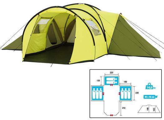 tente dome 8 places