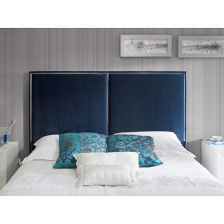 tete de lit bleu marine