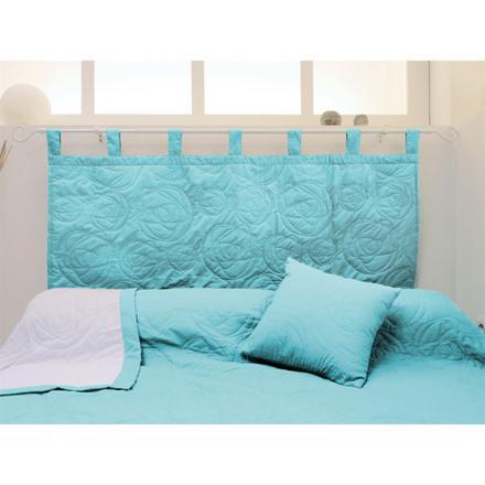 tete de lit turquoise
