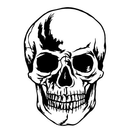 tete de mort gothique
