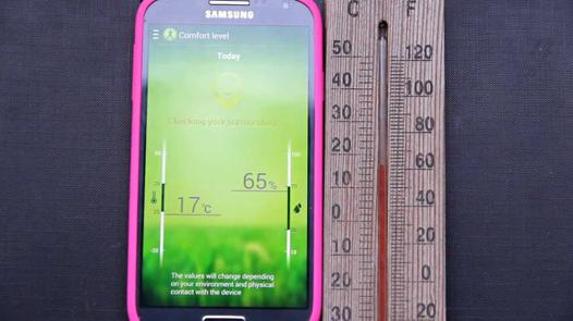 thermomètre galaxy s4