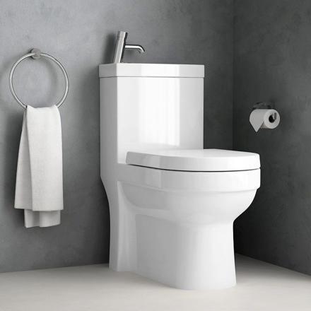 toilette avec lave main intégré