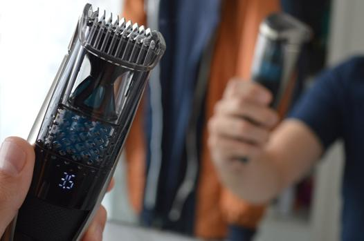 tondeuse barbe avec aspiration poils