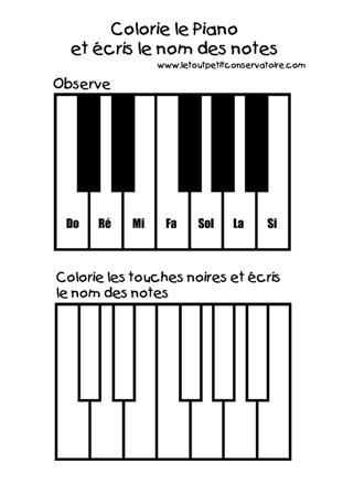 touche de piano dessin