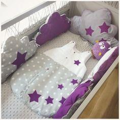 tour de lit prune
