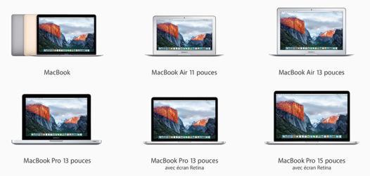 tout les macbook