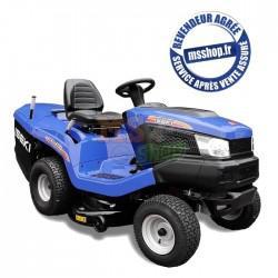 tracteur tondeuse bleu