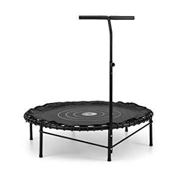 trampoline avec barre de maintien pour adulte