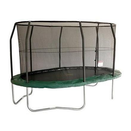 trampoline ovale avec filet