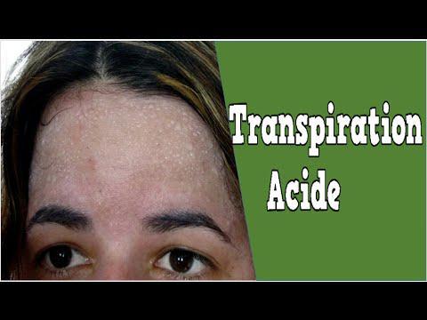 transpiration acide