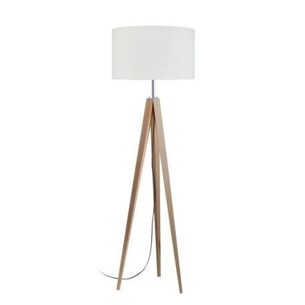 trepied lampadaire bois