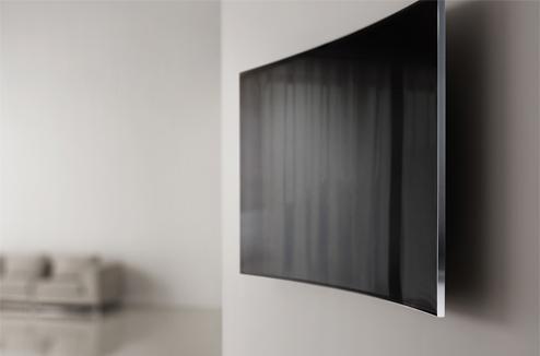 tv incurvée mur