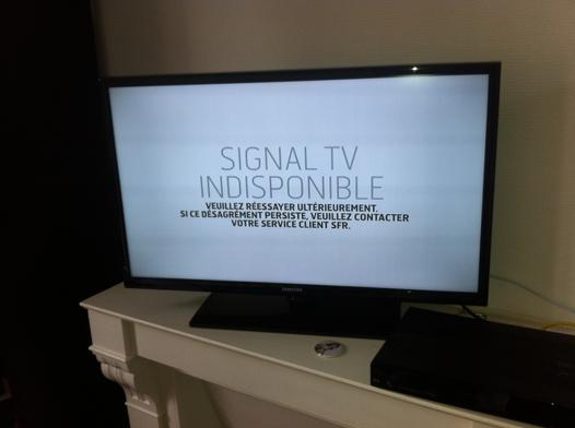 tv indisponible